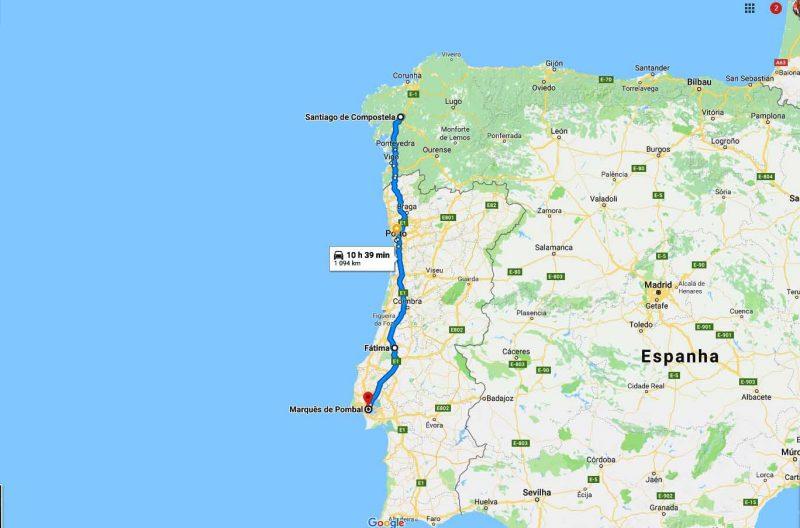 Day tour Fatima and Santiago de Compostela