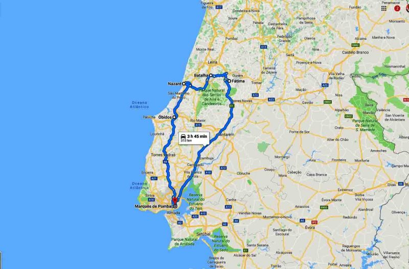 Full day tour Fatima Batalha Nazare Obidos