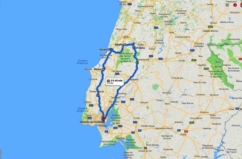 Paseo a Fátima Batalha Nazaré y Óbidos – 8h
