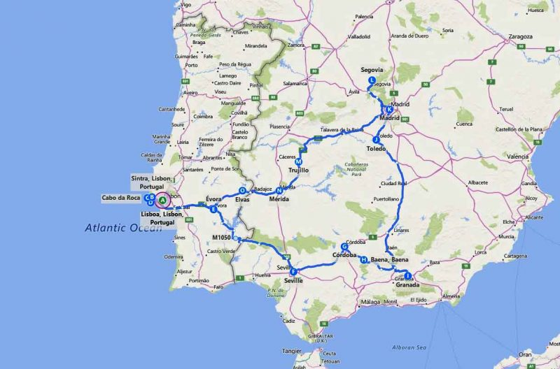 10 days Spain and Portugal (center/south)